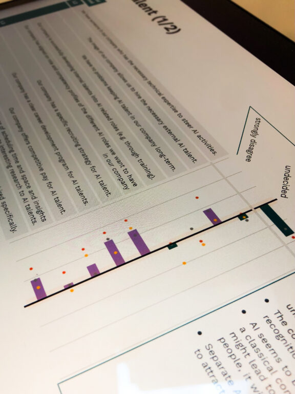 Ausschnitt aus der Bewertung des KI Reifegrades